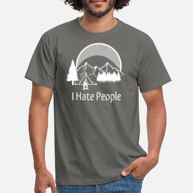 People I Hate People Camping Mountains Alone White - Maglietta uomo