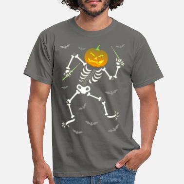 Ghastly Halloween drums - Men's T-Shirt