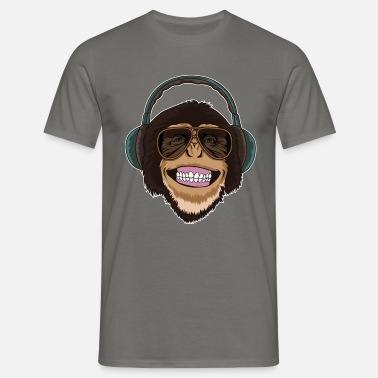 5bf7f2c6a35e Cool abe med solbriller og hovedtelefoner Premium T-shirt mænd ...