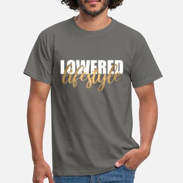 Lifestyle Lowered Lifestyle Tuning - weiß gold - Männer T-Shirt