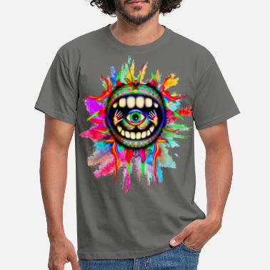 Trippy psychodelic vision - Men's T-Shirt