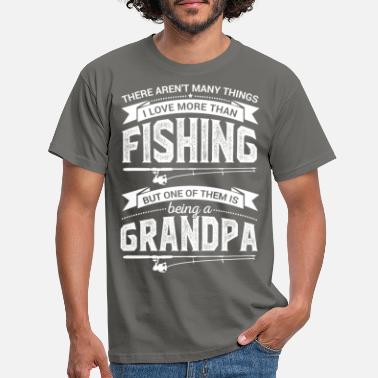 Fishing fishing grandpa grandpa - Men's T-Shirt