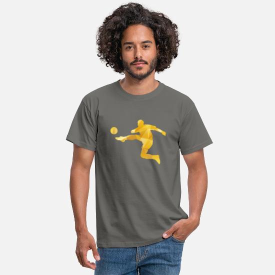 Fußball T-Shirts - Football in action - Männer T-Shirt Graphite