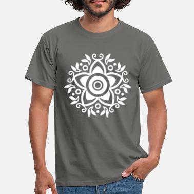 Bank Mexico Mexican Art Flower Floral Pattern - Men's T-Shirt