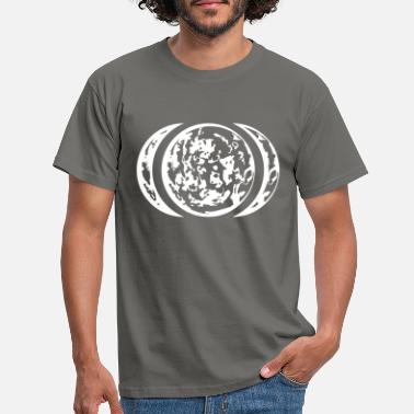 Half Moon sickle moon half moon moon live full moon planet zw - Men's T-Shirt