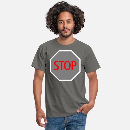 Fin T-shirts - Stop End Off Final - T-shirt Homme gris graphite