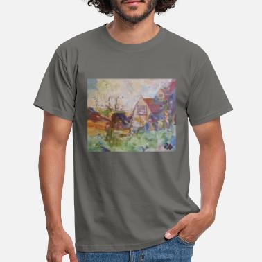 Kettles Yard Impressionist style painting - Men's T-Shirt