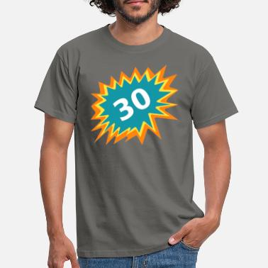 30s 30 colorful, 30 GB, celebrate 30, gift 30 - Men's T-Shirt
