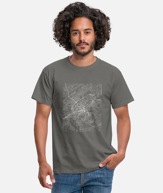 Knoxville T-Shirts - Minimal Knoxville city map and streets - Men's T-Shirt graphite grey