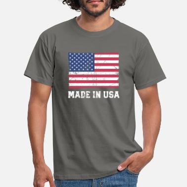 Made In Usa USA Flagge / Made in USA - T-skjorte for menn