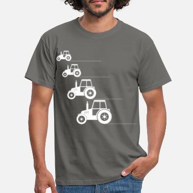 Tractor Tractor-tractor kids. Jungs- tractor driving - Men's T-Shirt