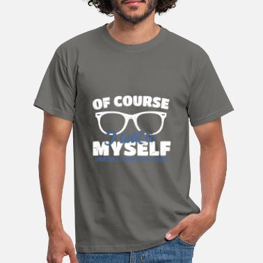 Sarcastic Nerd Klugscheisser - Geek saying For the know-it-all - Men's T-Shirt
