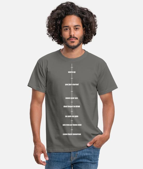 Training T-Shirts - Sport timeline - Men's T-Shirt graphite grey