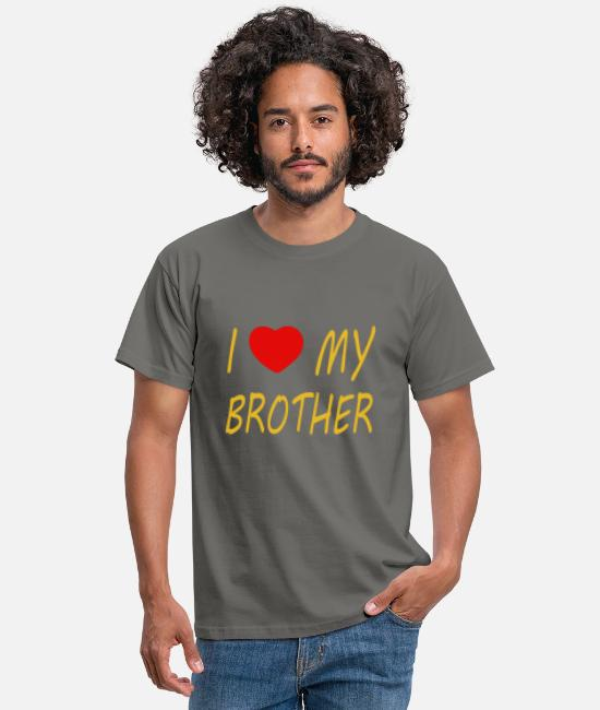Heart T-Shirts - I love my brother - Men's T-Shirt graphite grey