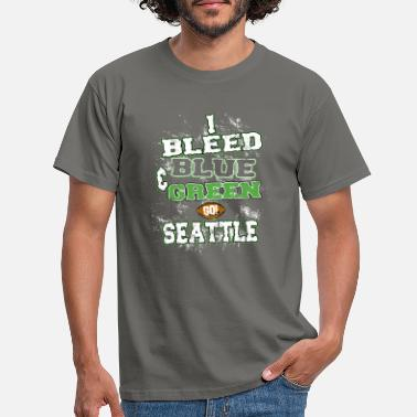 Paintball i bleed blue and green - Men's T-Shirt