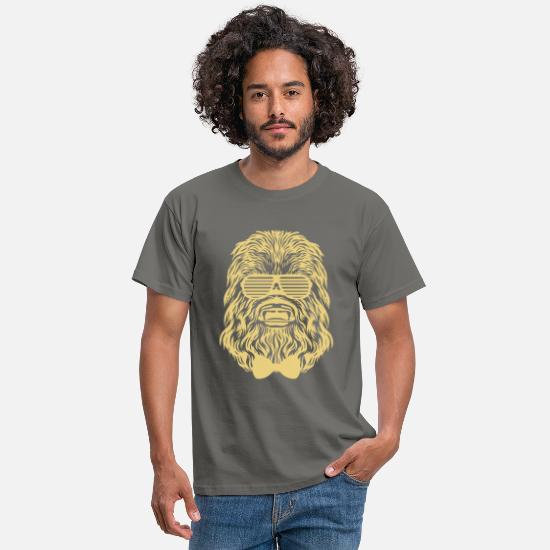 Chewbacca T-shirts - Chewbacca hipster - T-shirt Homme gris graphite