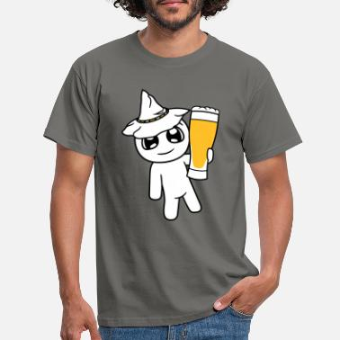 Thirsty Oktoberfest hat beer drinking party drinking thirst gl - Men's T-Shirt