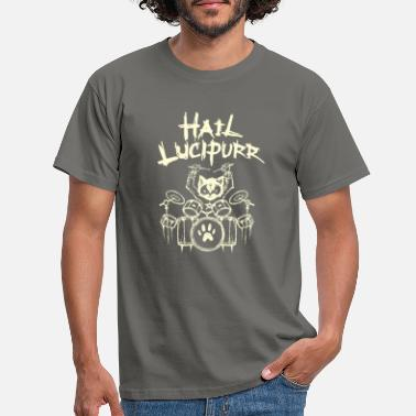 Heavy Salut Lucipurr Batteur Chat Gothique Metal Gothique - T-shirt Homme