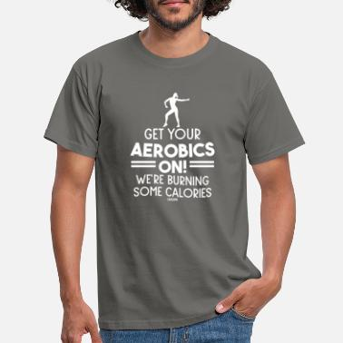 Dynamic Slimming sport aerobics music - Men's T-Shirt