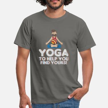 Yoga helps you sayings - Men's T-Shirt