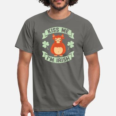 Patricks Kiss Me I'm Irish Funny Monster St Patrick's Day - Mannen T-shirt