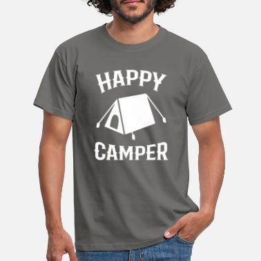 Tent Camping with tent - Men's T-Shirt