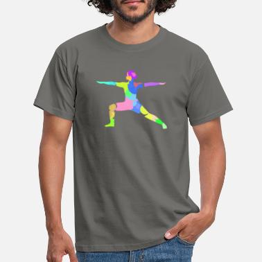 Warrior Yoga Virabhadrasana II Colors - Men's T-Shirt
