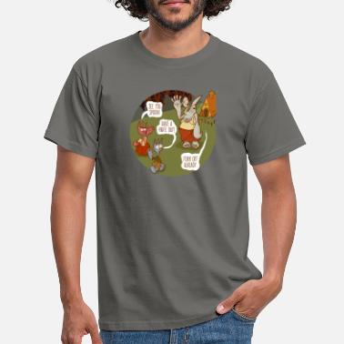 Whimsical Fork Off! - Men's T-Shirt