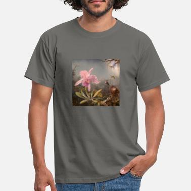 Cattleya orchid and three hummingbirds. 1,871th - Men's T-Shirt