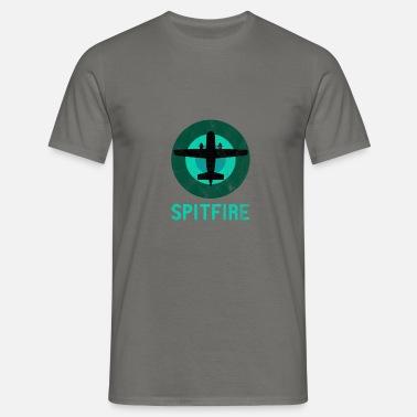 Spitfire fly Retro Vintage Jet Aviator Premium T shirt mænd