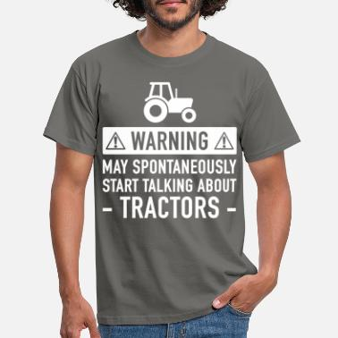 Advarsel Funny Tractor Gave Idé - T-shirt mænd