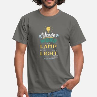 God Your Word Is a Lamp - Männer T-Shirt
