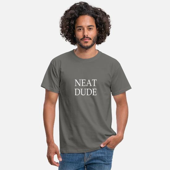 Clean T-Shirts - Neat dude white - Men's T-Shirt graphite grey