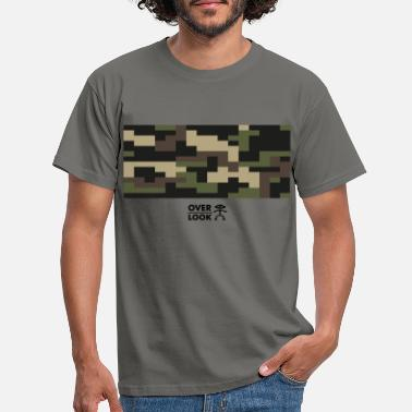 Camouflage, pixel camo, pixelated camouflage textur - T-shirt herr