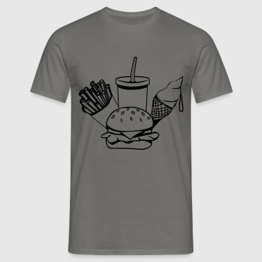 fast food menu-ijs - Mannen T-shirt