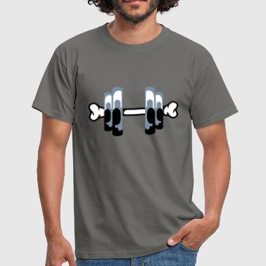 Fitness | Body Building | Hantel | Dumbbell | Knochen | Bones - T-shirt Homme