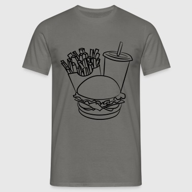 fast food hamburger menu-delicious - Mannen T-shirt