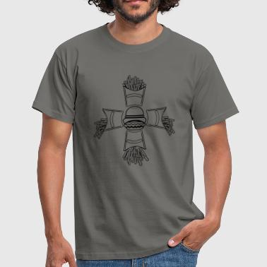 Fast-Food-Burger brät - T-shirt Homme