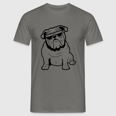 Dog English bulldog sunglasses - Men's T-Shirt