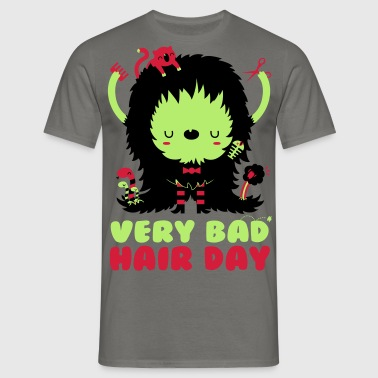 Very bad hair day - Mannen T-shirt