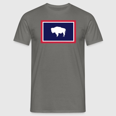 WYOMING FLAG - T-shirt Homme