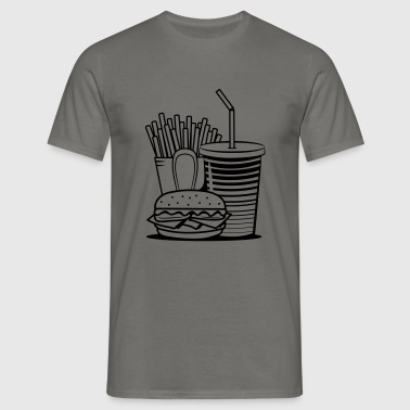 fast food menu-delicious - Mannen T-shirt