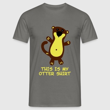 This is my Otter Shirt Fischotter Fun Comic - Camiseta hombre