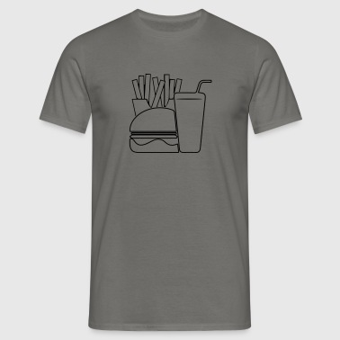 Fast food menu ontwerp - Mannen T-shirt