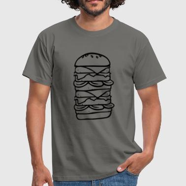 Fast Food großer Burger - Men's T-Shirt