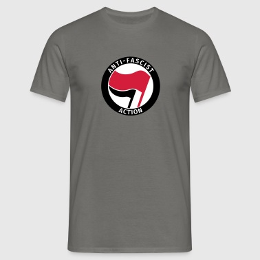 Anti-Fascist Action - T-shirt herr