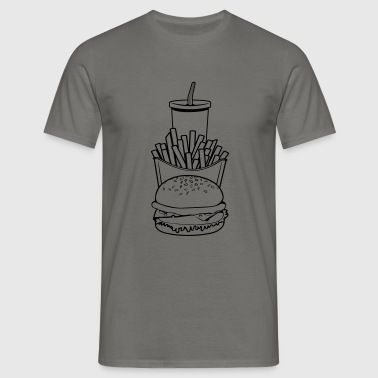 Fast food menu - Mannen T-shirt