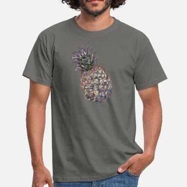 Pineapple Draw pineapple painting - Men's T-Shirt