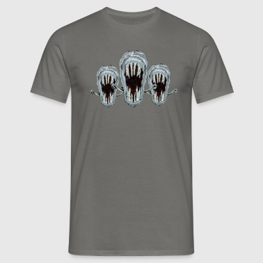 monster piranha fish - Men's T-Shirt