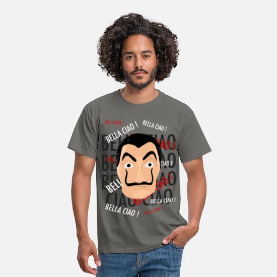 Bella T-shirts - Bella ciao - T-shirt Homme gris graphite